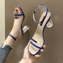 high heel strappy sandal clear pvc transparent pumps sandals slingbacks ladies shoes