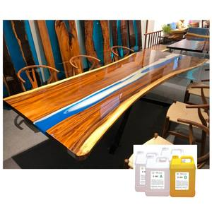3:1 super transparent epoxy resin Art Raw Material two component ab glue desk river table epoxy liquid resin