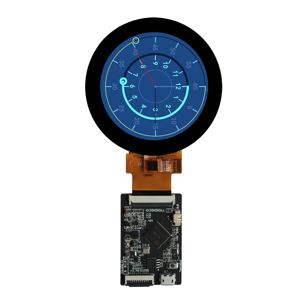 capacitive touch panel 2.1inch 480x 480 IPS round lcd display with mini PCB