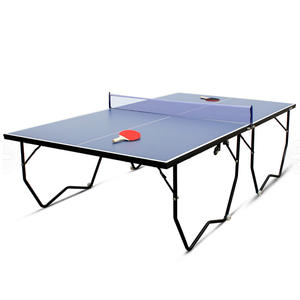 Cheap indoor mdf 12mm table pingpong with folding legs