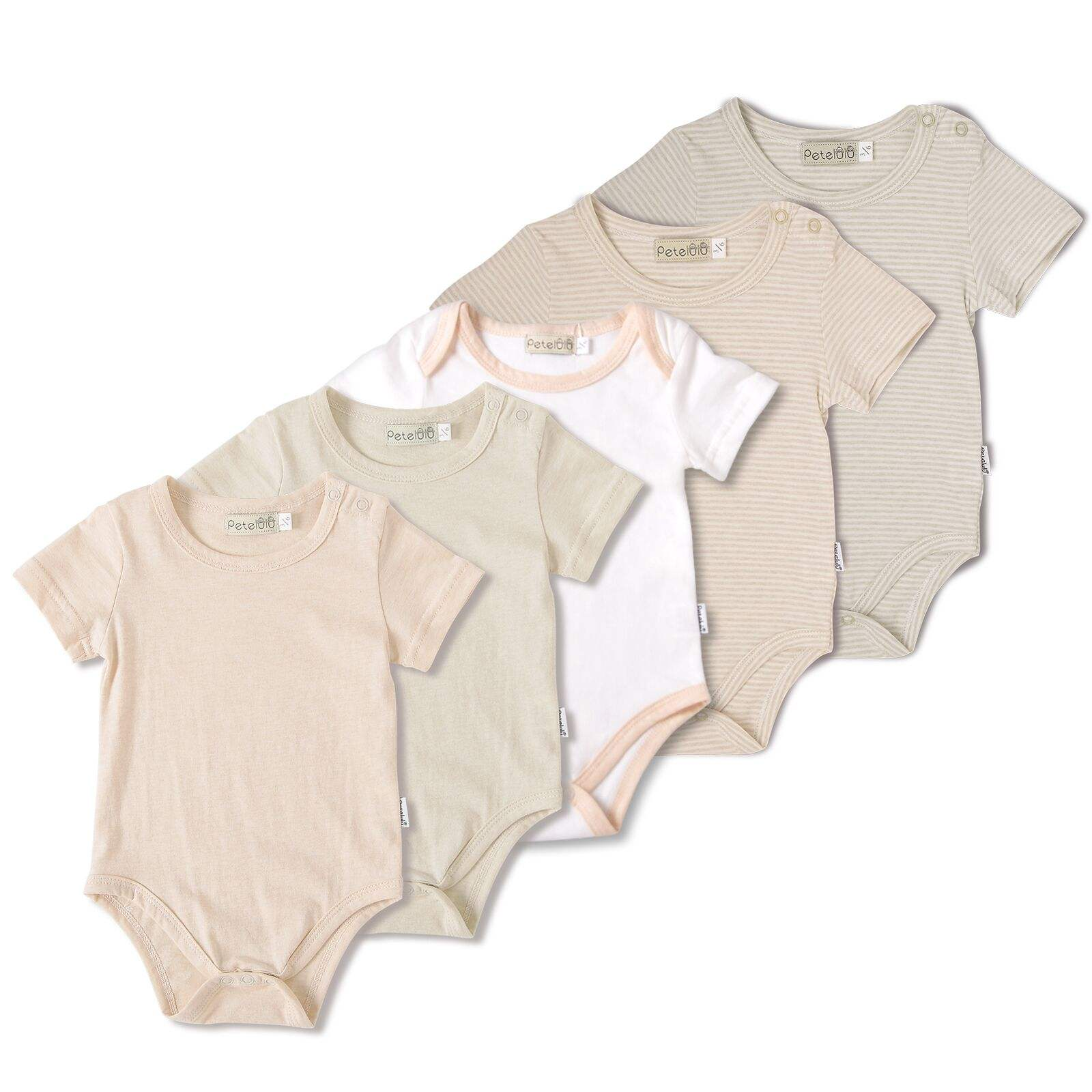 Good Sell 100% Natural Cotton Plain Cute Organic Cotton Baby Romper