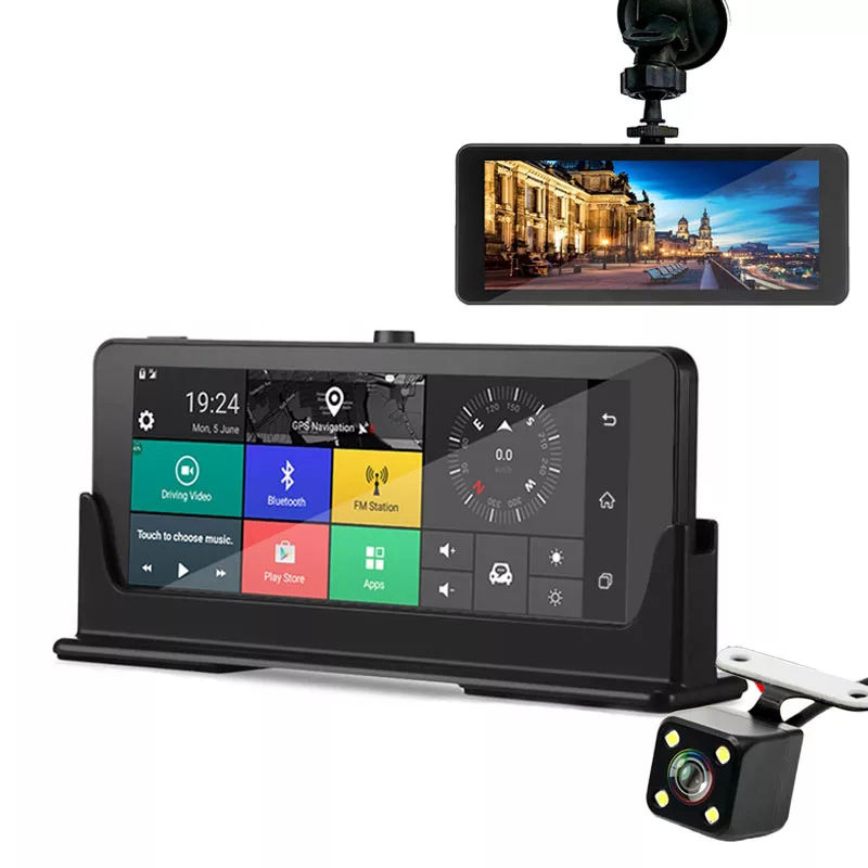 7 inch Android 3g 4g GPS navigation HD 1080P Car DVR Vehicle Camera Video Recorder Car Dash Cam with Parking monitoring car dvr