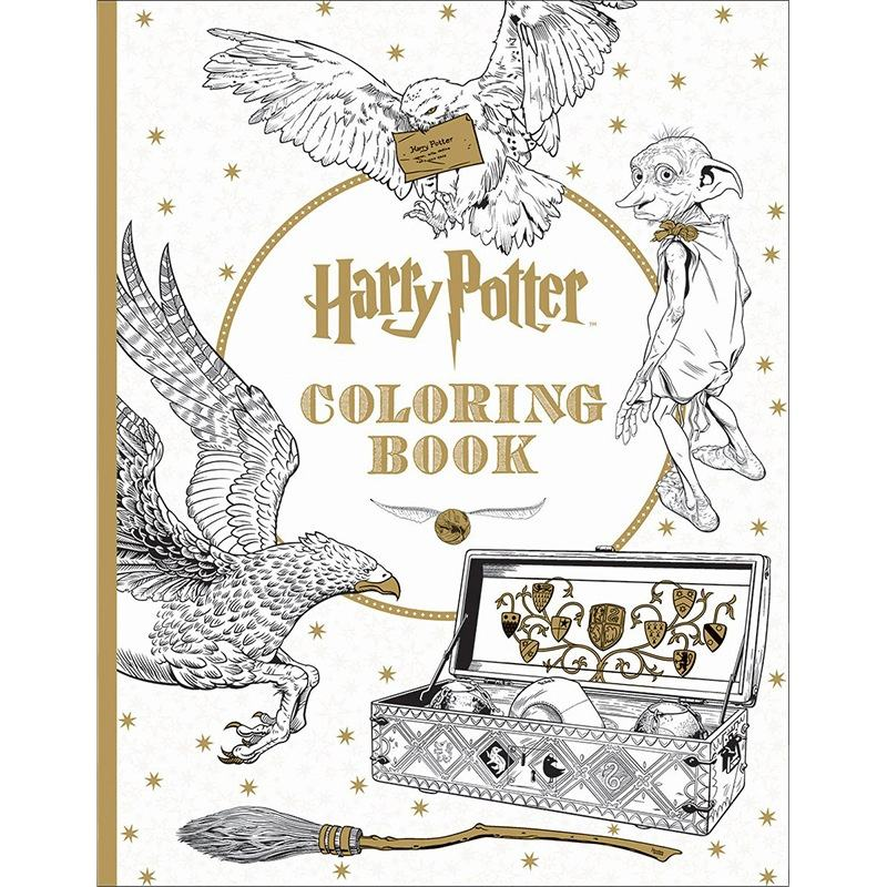 High quality cheap soft cover Harry potter coloring book for adult printing service