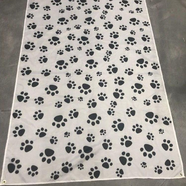 DIY 2019 Custom Cat Paw Print Polyester Flag Printed Custom Flag for Trade Promotion