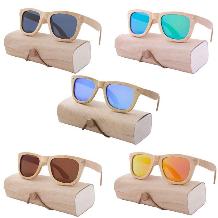 Fashion Full Bamboo Custom Eco Friendly UV400 Polarized Sunglasses Sun Glasses