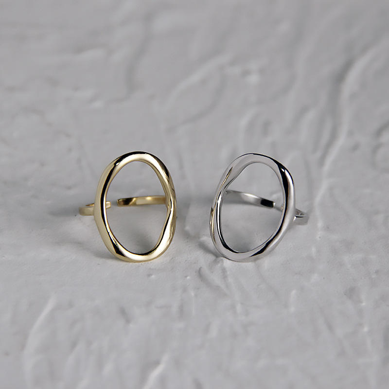 Fashion Minimalist Adjustable Finger Ring Anillos De Plata Gold Plated Sterling Silver 925 Rings Jewelry 2020 Women