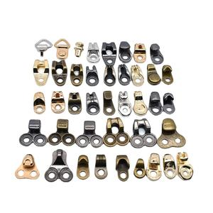 Boot Lace Hooks Lace Fittings metal boot hooks with rivets alloy shoe eyelet hooks for footwear