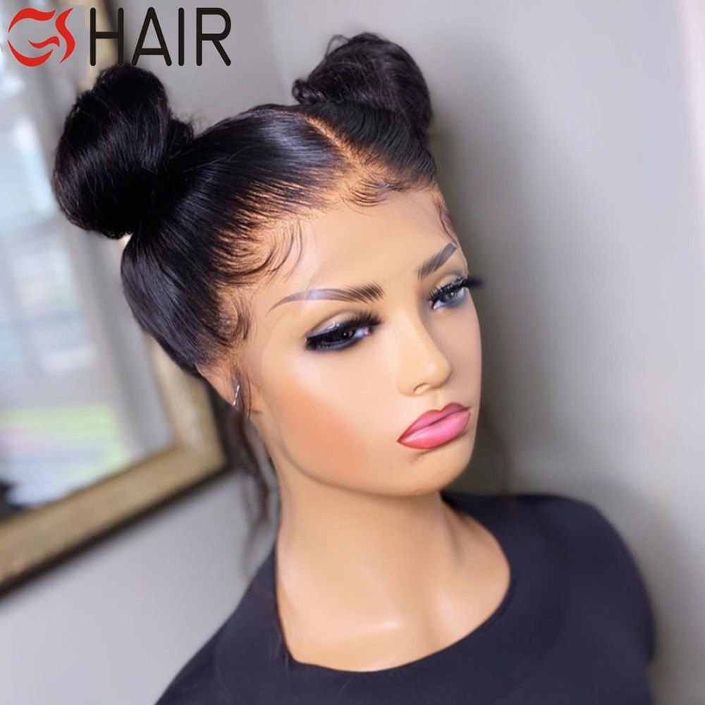 Film HD Transparent Swiss Lace Natural Human Hair Lace Front Wigs ,Thin Pre-Plucked Raw HD Lace Frontal Wigs For Black Women