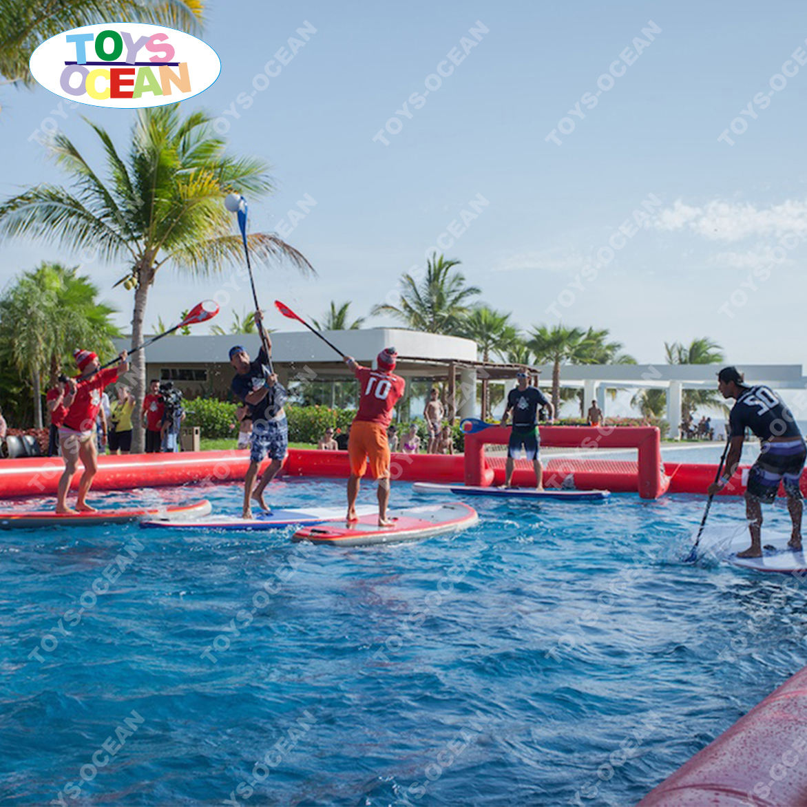 New game inflatable water SUP POLO water football field for sale