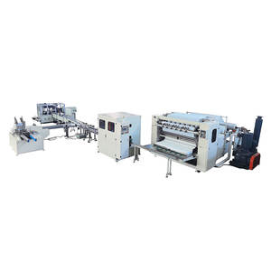 Embossing folding facial tissue machine price