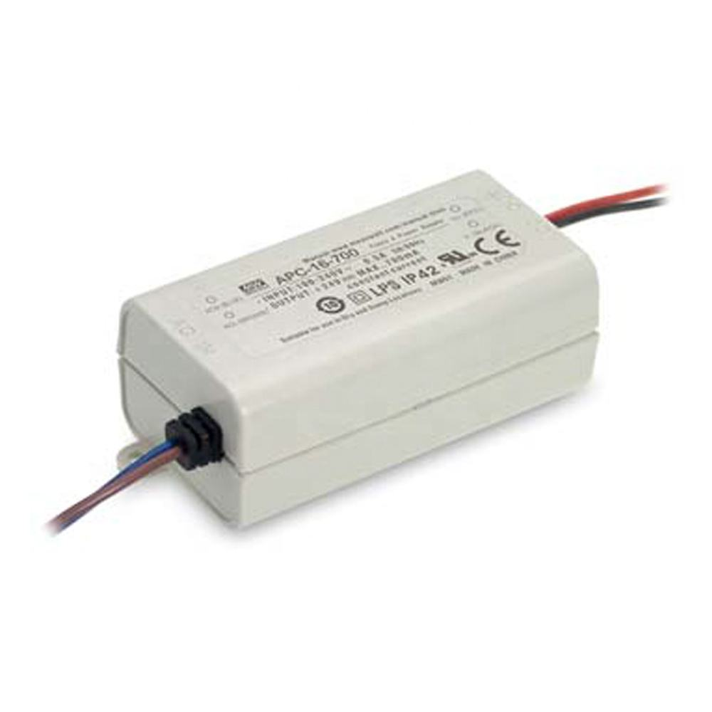 APC-16 series 16W 350mA 700mA IP42 AC-DC PSU LED DRIVER LOW COST SMPS SWITCHING POWER SUPPLY