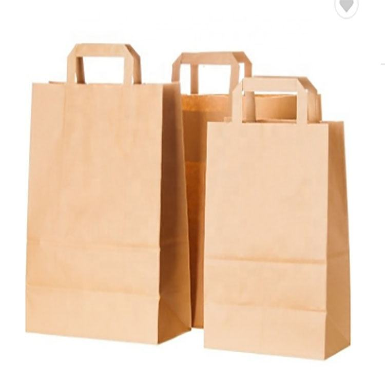 paper material and hand length handle sealing handle fancy kraft paper gift bag shopping paper sack