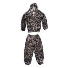 3D Leaves Woodland Brown Camouflage Clothing Military Clothes and Pants for Hunting Shooting Airsoft Ghillie Suit Camo Suit