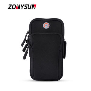 Outdoor Running Sports Armband Cycling Jogging Portable Mobile Phone Arm Bag Gym Phone Holder With Earphone Hole