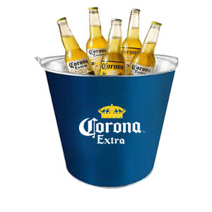 party retro liquor ice buckets beer bottle metal square 5l ice coolers holders