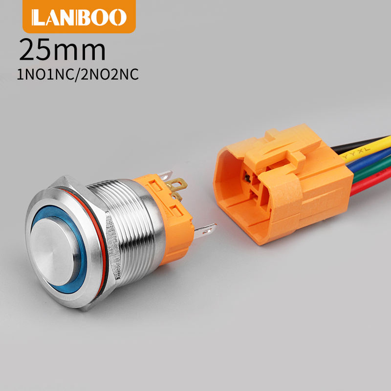 selector best quality ROHS 22mm 1NO1NC plastic two position maintain selector switch