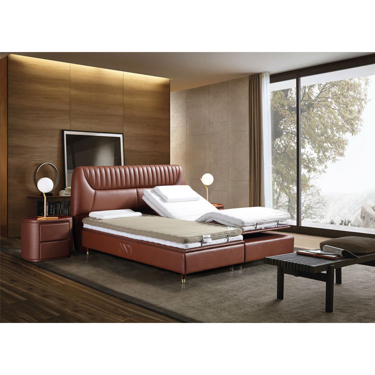 Sale King Remote Control Smart Flex Quality Leather Electric Adjustable Bed
