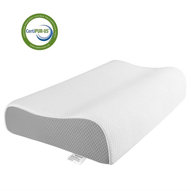 High Quality Bamboo Fiber Pillow Neck Healthy Wedge Pillows Bamboo Fabric Soft Contour Memory Foam Pillow