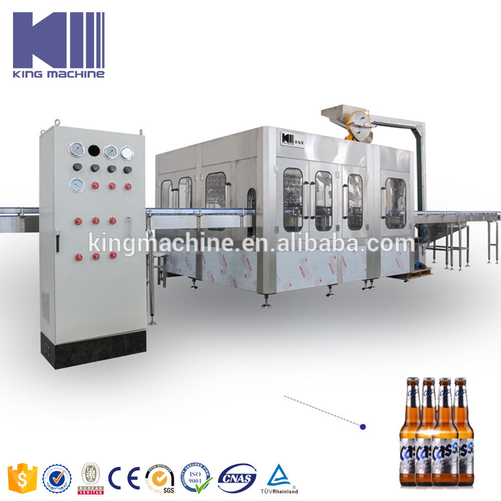 Vodka Glass Bottle Washing Filling Capping Production Line / Equipment