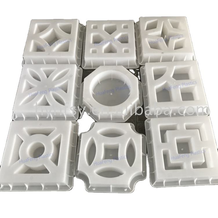 Factory supply concrete hollow blocks wall plastic molds