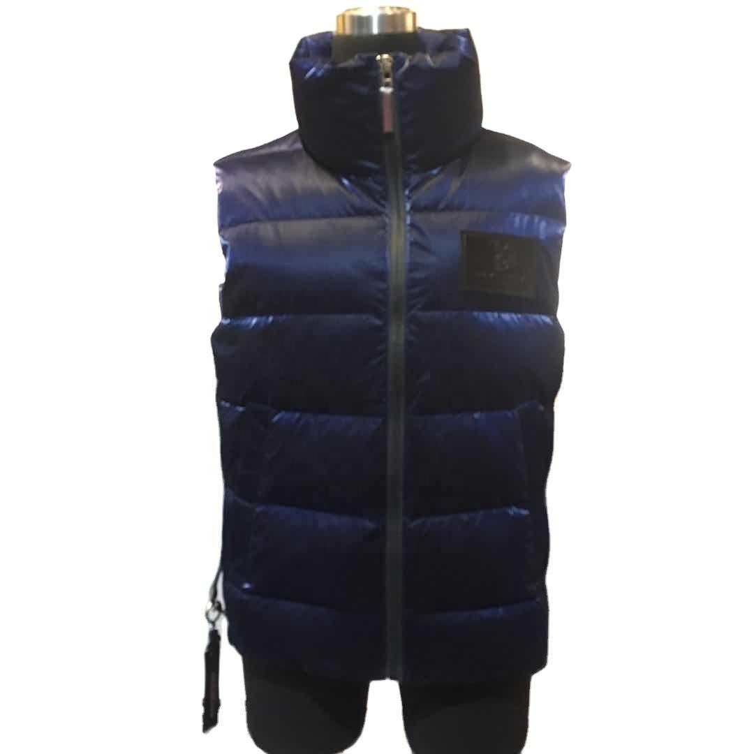 solid blank model OEM mens Winter sleeveless padded vest