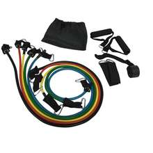 TOPKO hot selling fitness latex 11pcs Resistance Band and tube Set