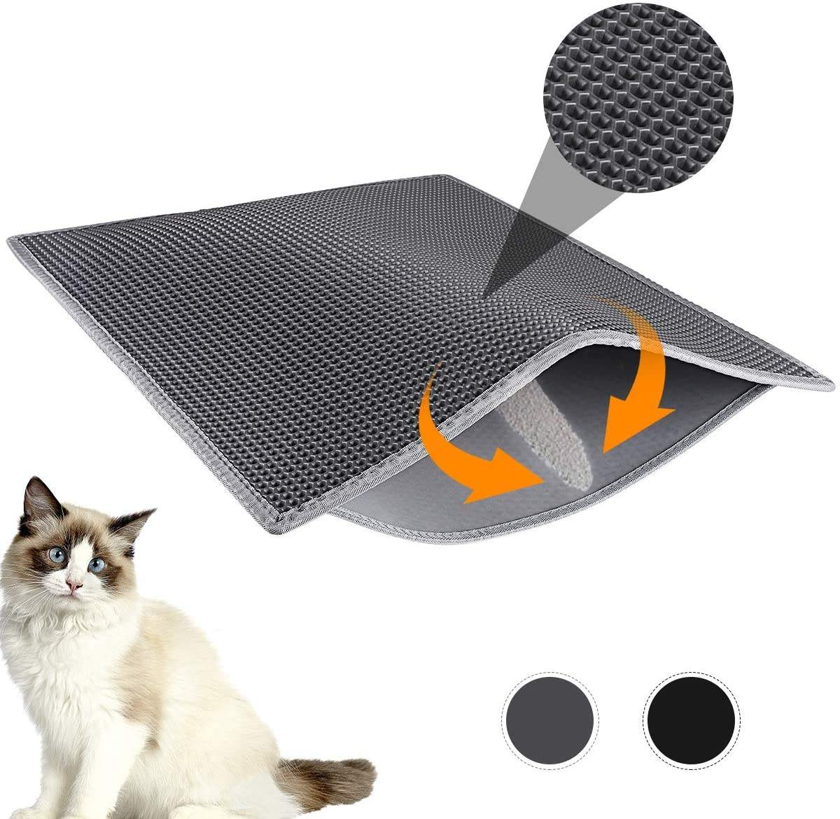 Wholesale manufacturer washable large double layer EVA material waterproof cat litter mat