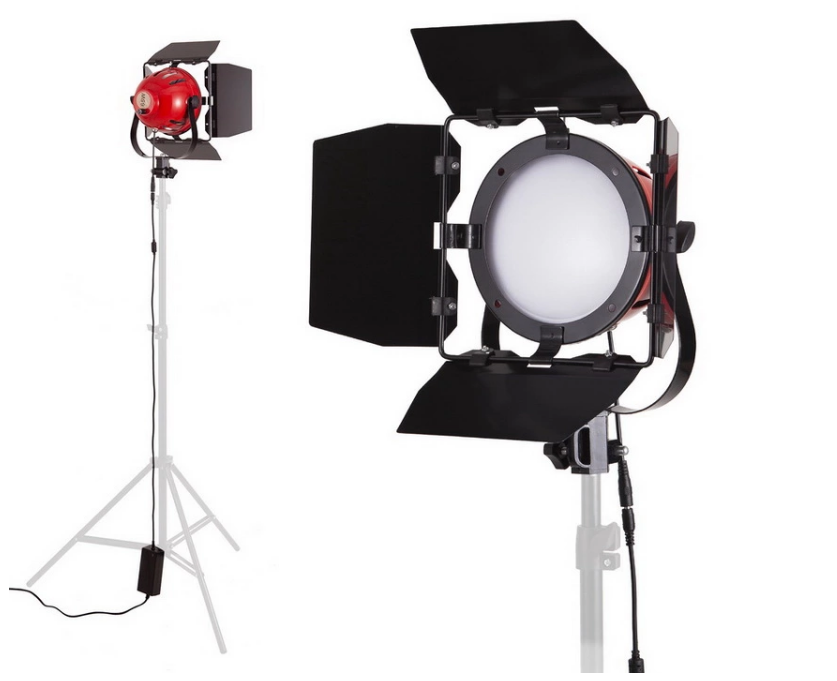 65W LED Red Head Light 5500K Daylight Dimmable Continuous Light Photo Studio Lamp