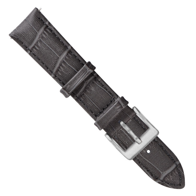Gray Leather Watch Strap Real Leather Wrist Band