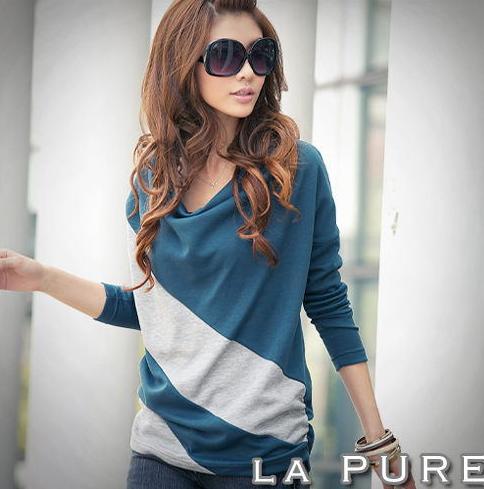 Women blouse dress Korean casual fashion summer clothes apparel