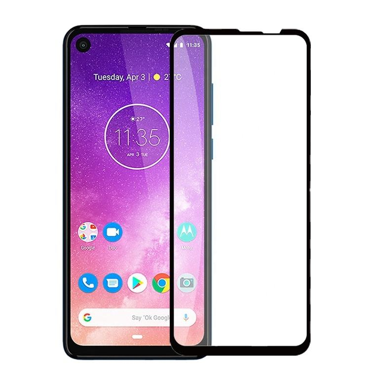 Ultra-Thin 2.5D Full Coverage 9H Hardness Crystal Scratch Resistant Tempered Glass Screen Protector For Motorola One Vision