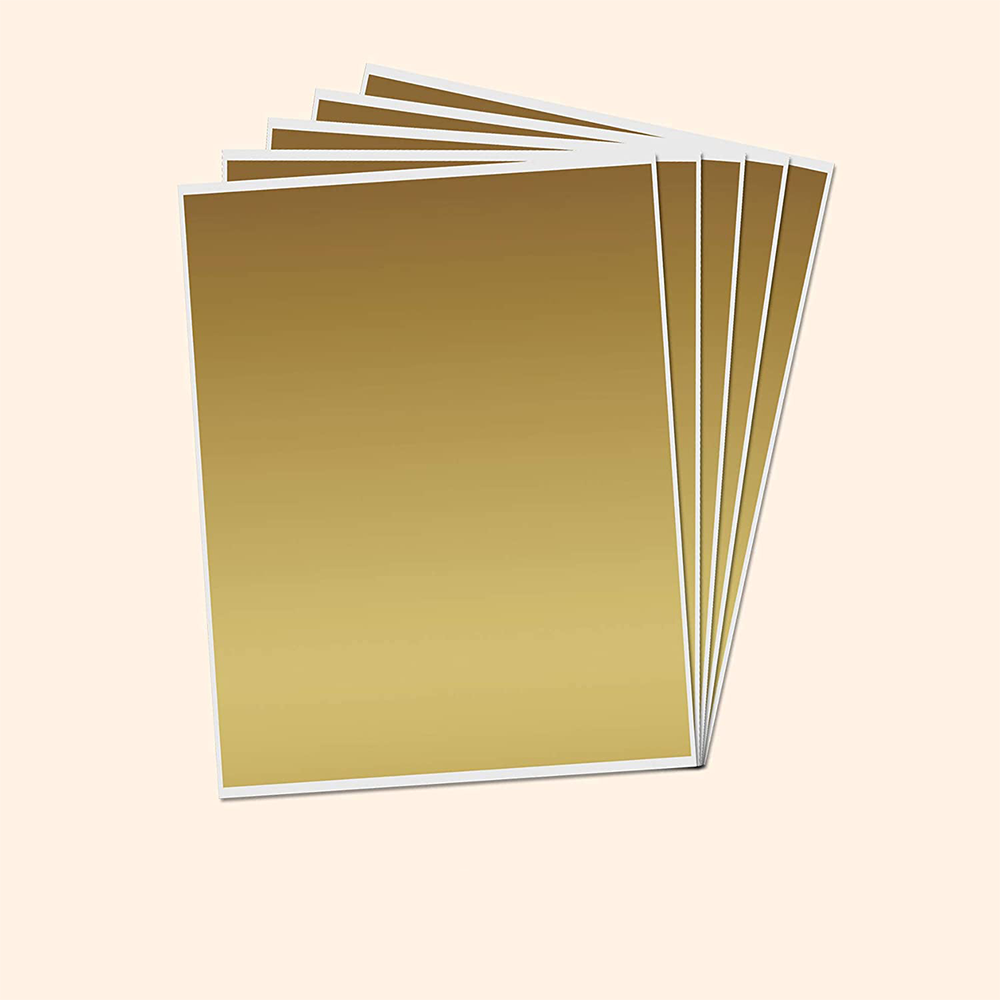 Cheap Price Sheets A4 Gold Scratch Off Sticker Labels Large for DIY Sheet Cards Gifts Bags
