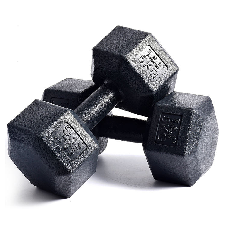 Rubber Covered Durable Using Hex Dumbbell Plastic Rubberized Dumbbell Pu Rubber Dumbbell