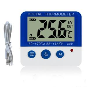 Indoor / Outdoor Digital Display Thermometer Elektronische Hygrometer Mit LED Licht Höchste Niedrigste Temperatur Alarm Funktion