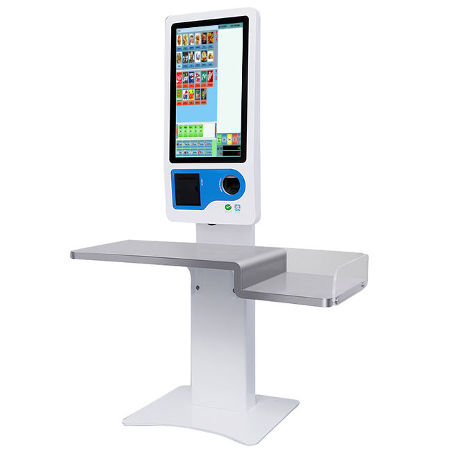 23.8 inch touch screen advertising order online payment interactive self service terminal kiosk