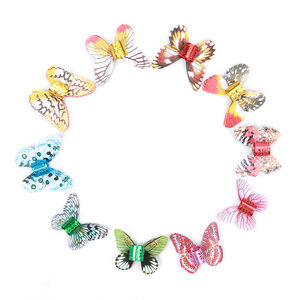 African Kids Children Colorful Butterfly Cuffs Loc Jewelry Hair Beads For Dreadlock Braiding Hair Extension