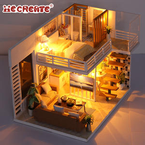 DIY House Model Furniture Dolls Houses Toy Doll House Kits For Adults