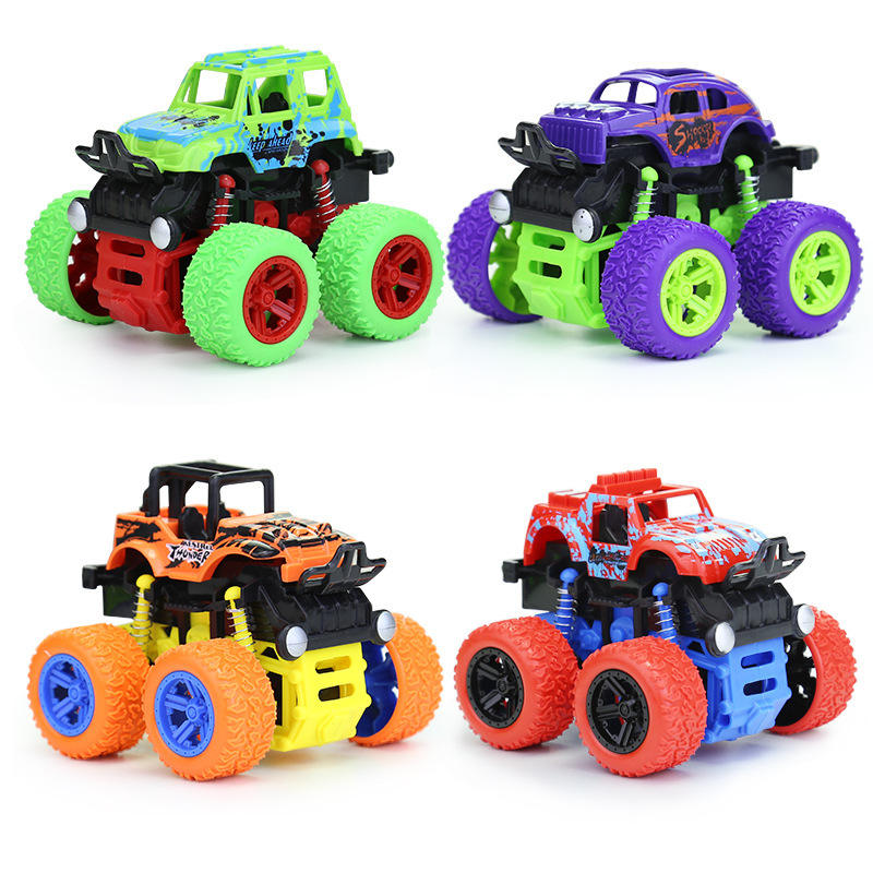 Inertia Four-Wheel-Drive off-Road Vehicle Children Simulation Model Car Anti-Shatterproof Toy friction Car Inertia 4WD toys
