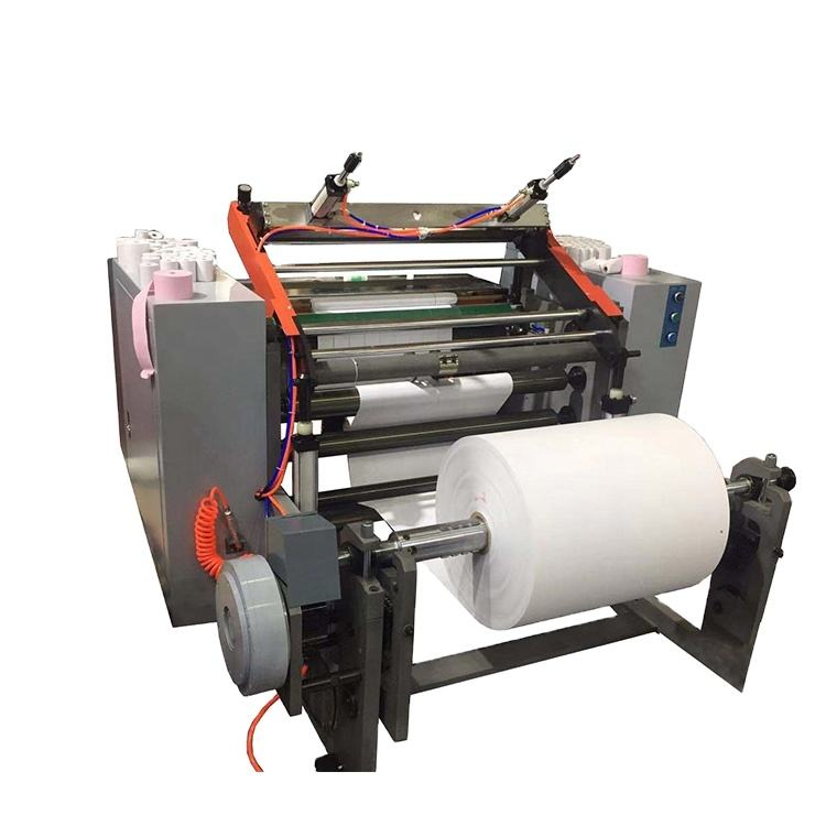 Automatic ATM roll cash register roll thermal paper roll cutting rewinding machine