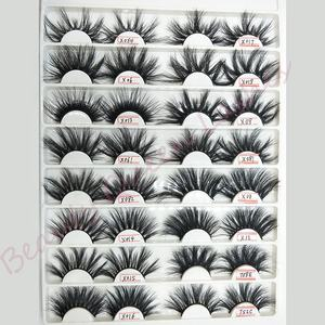Bqueen wholesale mink eyelash 25mm mink eyelash lshes mink lahes vendors custom eyelash packaging box with Daily makeup