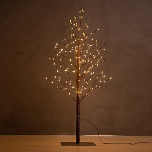 Bolylight 3ft219L Brown Birch Artificial Outdoor Festival Decoration Copper Wire String Lights Tree Light