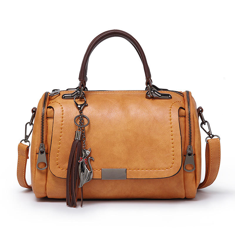 High Quality Tassel Ornaments Vintage England Style PU Leather designer hand bags