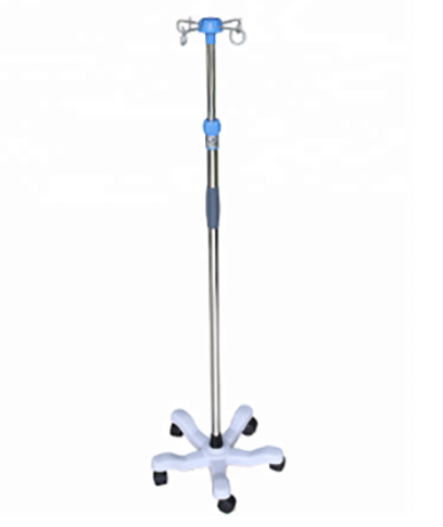Stainless steel medical hospital IV pole stand infusion pole can adjust height ifusion stand
