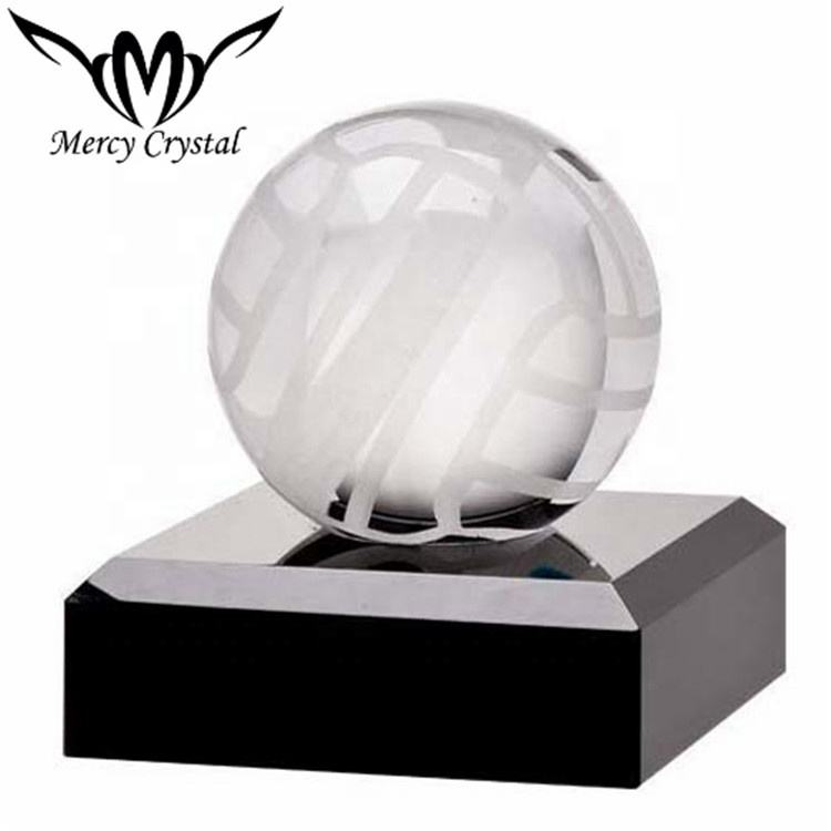 Express Medals Customizable Optical Crystal Female Volleyball Trophy Award Gift