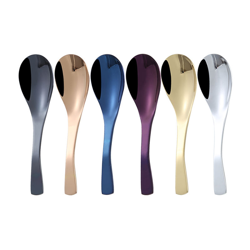 Restaurant silver stainless steel spoons soup gold edible spoon