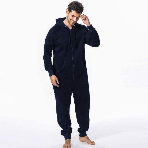 Wholesale Custom One piece Pajamas Men Warm Cotton Onesie Adult Camo Men Onesie Pajama