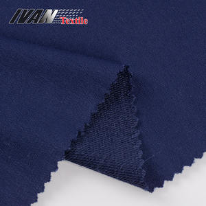 Viscose spandex solid dyed garment french terry bamboo knit fabric
