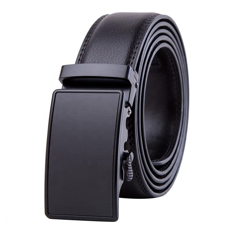 Wholesale Automatic Buckle Ratchet Custom Men Cowhide Genuine Leather Belt
