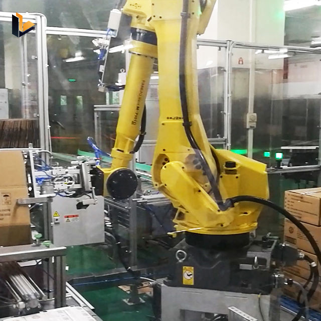 Food Beverage Factory Industrial Automatic Robot Arm Automatic Palletizer Robot Abb Robot Palletizer