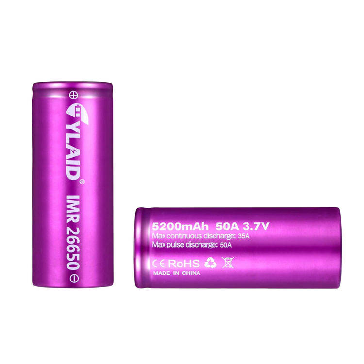 Original Cylaid 5200 mAh 50A Discharge IMR 26650 Lithium Ion Mod Rechargeable Batteries For Vapes